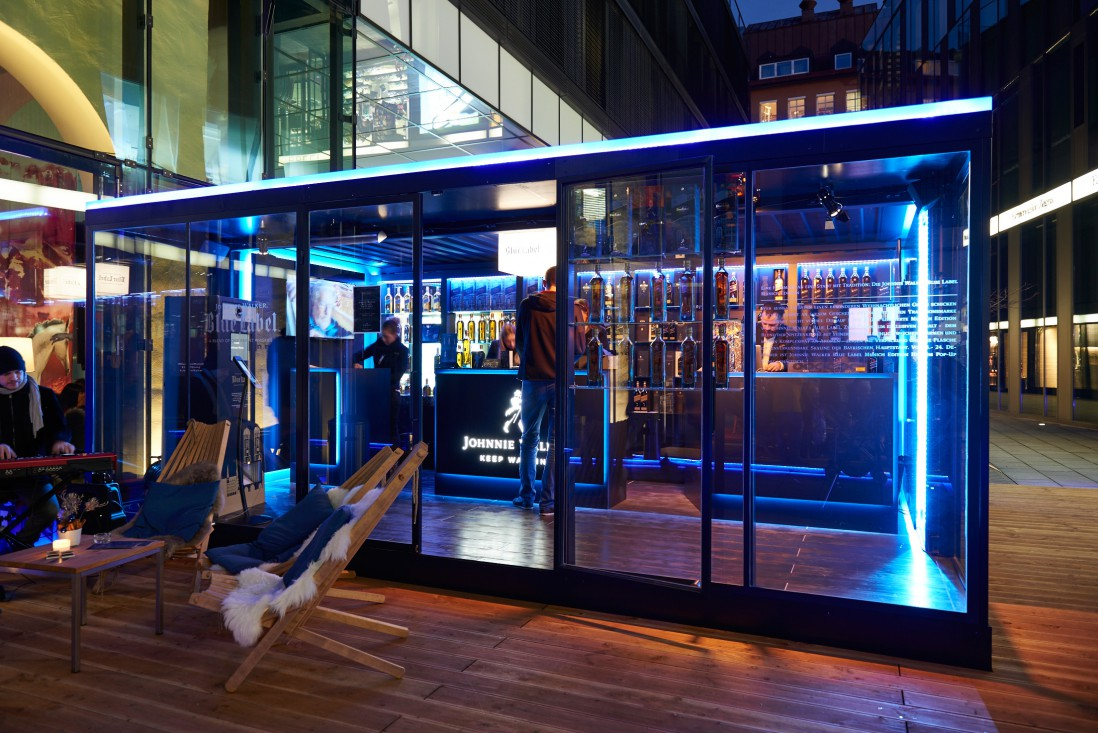 Johnnie Walker Blue label Pop-Up-Store Munich